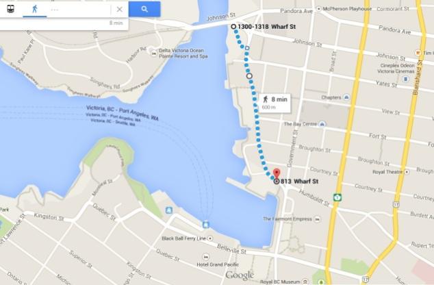 Mapa Wharf Street