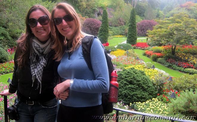 Minha primeira visita ao Butchart Gardens foi em 2011 com a minha irmã! :D
